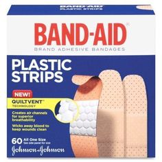 Johnson & Johnson Plastic Band Aid 60ct 3/4x 3inch
