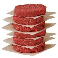 Mathew's Famous All Beef burgers 4oz 10lb box 40pc