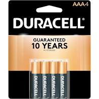 Duracell AAA-4 Batteries