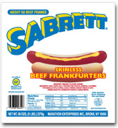 Sabrett Hot Dogs 5lb bulk 50pc